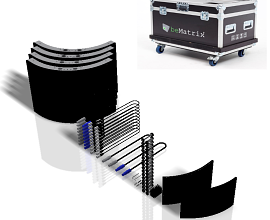 LEDSKIN CURVED OUT SET: 4 CURVES [0496X0496MM] IN FLIGHTCASE [INCL. ACC.] - P3.1