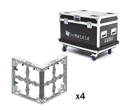 LEDSKIN SET PERFEKTE WINKEL FÜR WAND (4ST IN FLIGHTCASE)