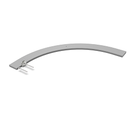 COVER FOR b62 CURVED FRAME 688 0496 ++++ RAL 9006 TEC
