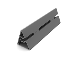 b62 CORNER POST 135° 2 THREADED SLOTS [++++MM] RAL 9006 TEC