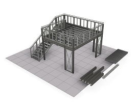 DOUBLE DECK SET [5,7X3,2 OR 4,2 OR 5,2M]