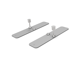 BASE PLATE [0093 X 0434MM] INCL CONNECTORS RAL 9006 TEC