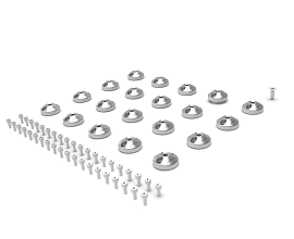 BASE PLATE SINGLE PIN M8 SET [SET OF 20PCS]