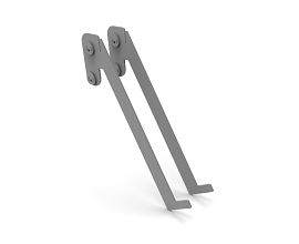 60° SHELF BRACKET SET RAL 9006 TEC - 62/55 MM