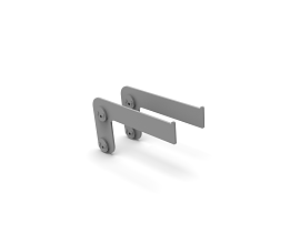 b62/DMK SMALL SHELF BRACKET SET RAL 9006 TEC