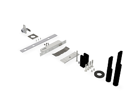 COMPLETE DOORSET [PIVOTS, HANDLE, COMBINATION LOCK, ROLLER LOCK]