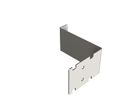 INOX 1MM DOORHANDLE RAL9006 TEC FOR THE SLIDING DOOR