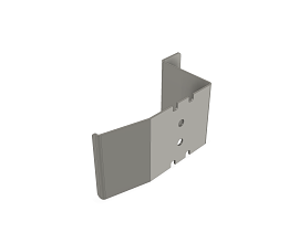INOX 1MM DOORHANDLE RAL9006 TEC FOR THE SLIDING DOOR PRO