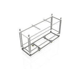 STEEL TROLLEY FOR 10 b62/b55/DMK FRAMES [EXCL.WOOD PANELS] 2480MM