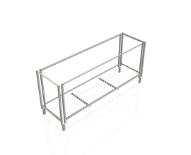 OPTION FOR EXTRA 10 b62/b55/DMK FRAMES ON STEEL TROLLEY 2480MM