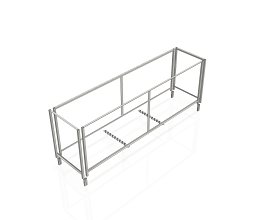 OPTION FOR EXTRA 10 b62/b55/DMK FRAMES ON STEEL TROLLEY 2976MM