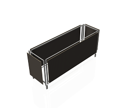 OPTION FOR EXTRA 10 b62 - DMK FRAMES ON STEEL TROLLEY [INCL. WOOD PANELS] 2480MM