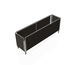 OPTION FOR EXTRA 10 b62 - DMK FRAMES ON STEEL TROLLEY [INCL. WOOD PANELS] 2976MM