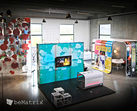 Showroom design en cadres beMatrix
