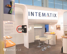 Intematix Stand von Modex Exhibitions