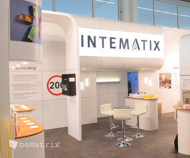 Intematix stand by Modex Exhibitions