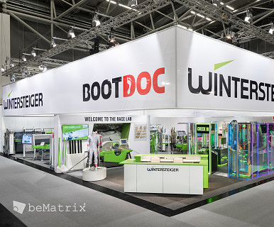 Corner Exhibition Stands Day : Bematrix: producer of modular solutions for stand building