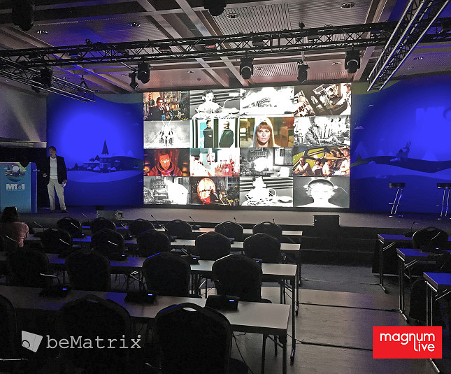 MagnumLive dresses International Conference in Helsinki with LEDskin®-integrated (back)stage structures