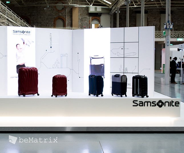 LEDskin® integrated in Samsonite stand @ FTE Dublin - Foto 2