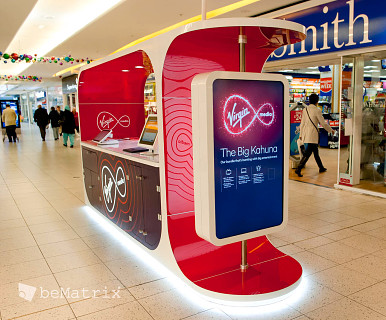 Kiosque Virgin sur mesure