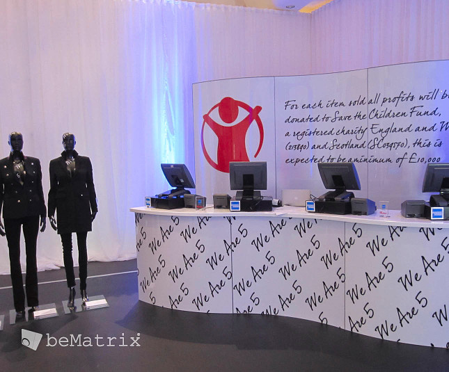 A beMatrix pop-up shop for Westfield London
