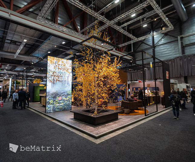 Create different zones in your stand with beMatrix